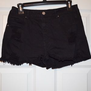 Sz 10 Pacsun Distressed High Rise Black Short